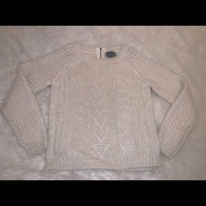 Cream chunky sweater l Cynthia Rowley